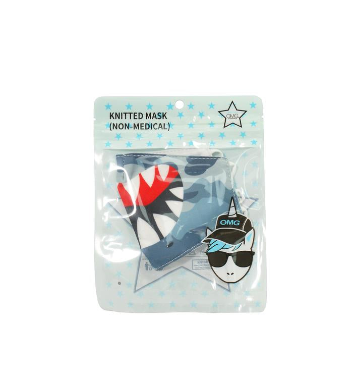 OMG KIDS CAMO SHARK ICON FACE MASK (FINAL SALE)