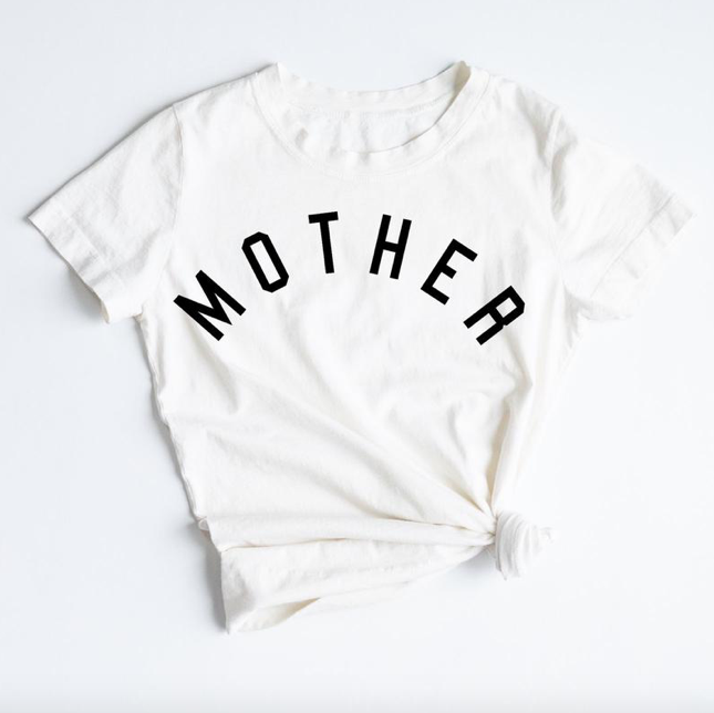 "FORD AND WYATT WOMENS ""MOTHER"" TEE - WHITE"