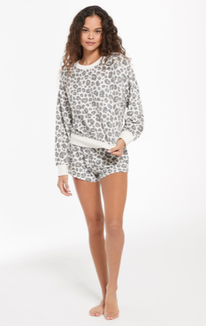 *NEW* Z SUPPLY ELLE BRUSHED SLUB LEOPARD PULLOVER
