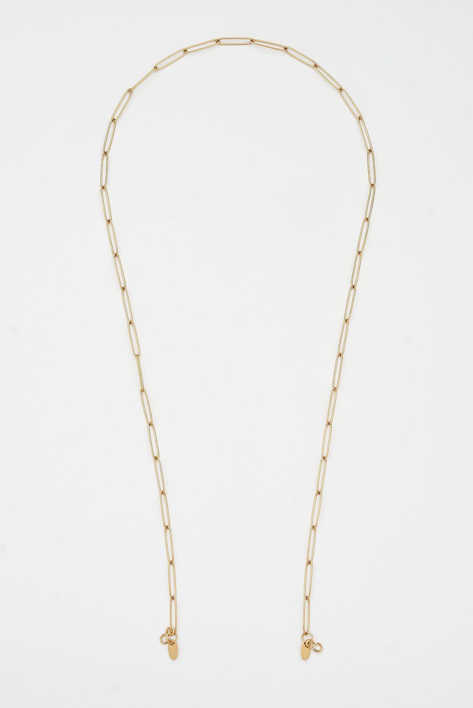 GOLD PAPERCLIP MASK CHAIN