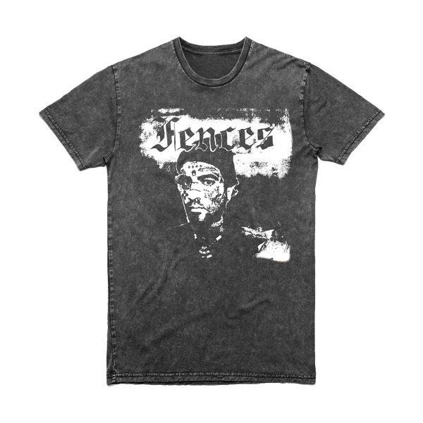 FENCES B&W ALBUM COVER ACID WASH TEE