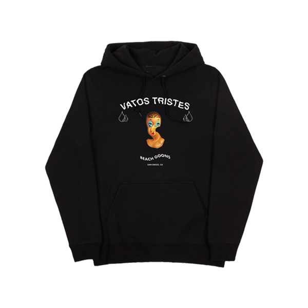 Beach Goons Vatos Tristes Black Pullover Hoodie