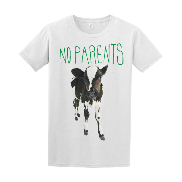 NO PARENTS MIDDLEGROUND COW TEE