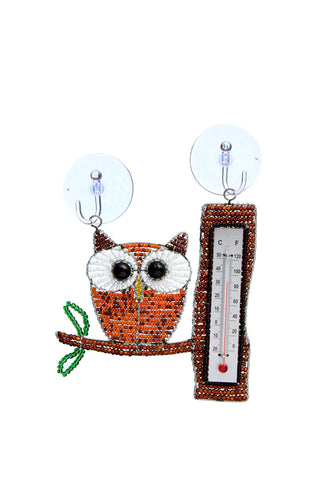 Window Thermometer Owl