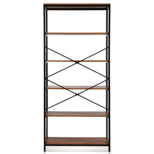 Load image into Gallery viewer, Top rated eshion children bookcases 4 layer shelf storage bookshelf furniture adjustable book shelving us stock one size 5505 5 shelf brown