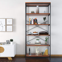 Load image into Gallery viewer, Top eshion children bookcases 4 layer shelf storage bookshelf furniture adjustable book shelving us stock one size 5505 5 shelf brown