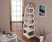 Load image into Gallery viewer, Discover mixcept 66 multi purpose shelves 5 tier bookshelf bookcases wooden storage display shelf standing shelving unit collection shelf white