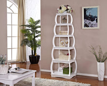 Load image into Gallery viewer, Discover the mixcept 66 multi purpose shelves 5 tier bookshelf bookcases wooden storage display shelf standing shelving unit collection shelf white
