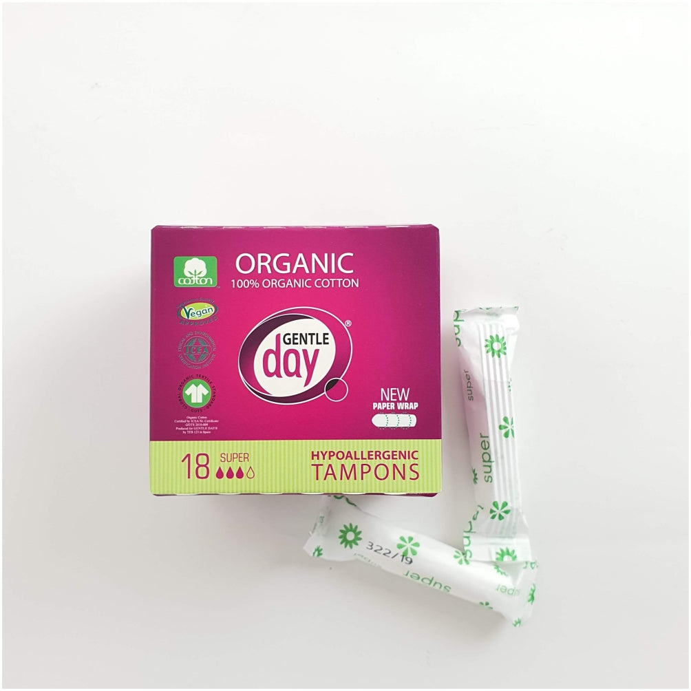 Organic Cotton Tampons SUPER, 18 ct