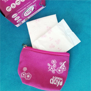 Genial day small canvas bag for pads