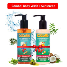 Earth Shine Body Wash + Sunscreen