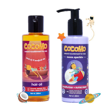Hair Oil + Moon Sparkle Sunscreen