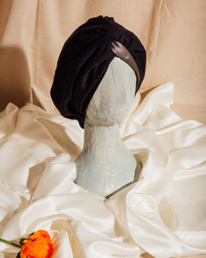 signature silk hair turban™ -black