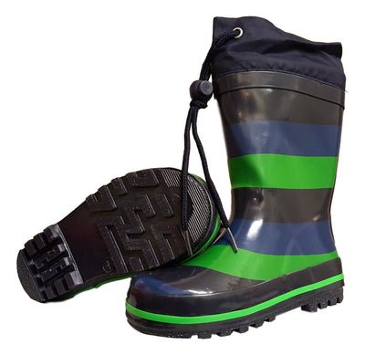 Boys Wellies with Toggle Tie Top