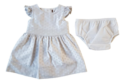Silver Spot Occasion Dress & Knickers