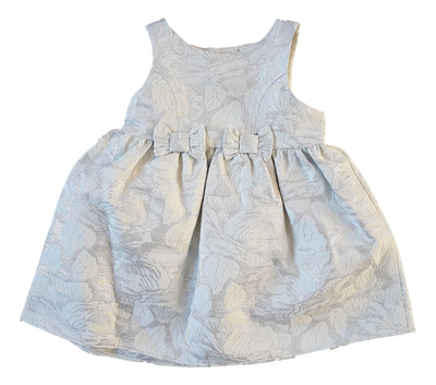 Silver Floral Bows Occasion Dress