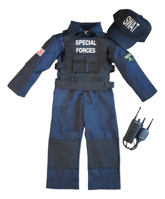 Boys SWAT Special Forces Fancy Dress Costume