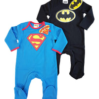 Baby boys superman batman babygrows