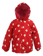 Girls Red Spot Winter Coat