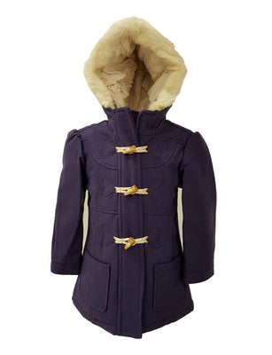 girls smart duffel coat