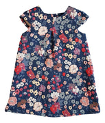 Girls Textured Floral Shift Dress
