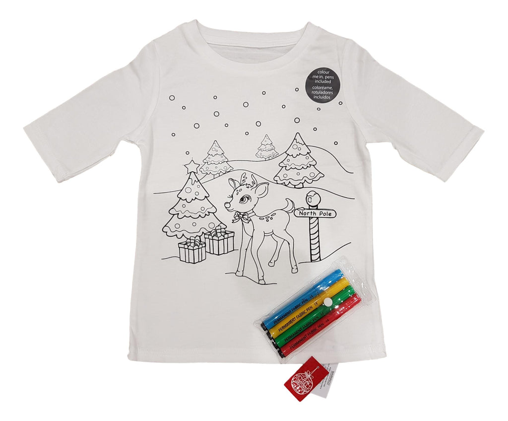 Colour your own Christmas Tshirt with Fabric Pens | The Kids Outlet ...