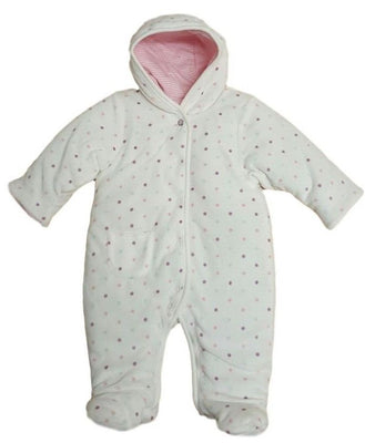 Baby girls velour pramsuit