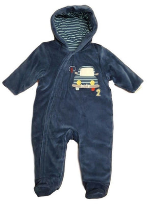 Baby boys velour pramsuit