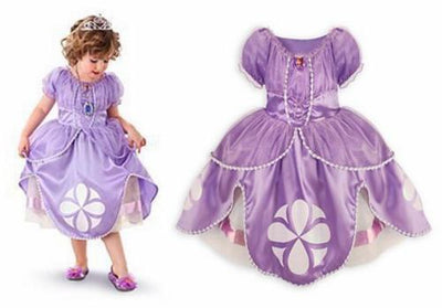 Girls Princess Sofia Fancy Dress Costume