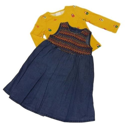 Baby girls denim dress and tshirt