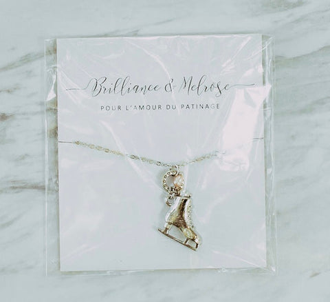 Collier Brilliance & Melrose Patin argent
