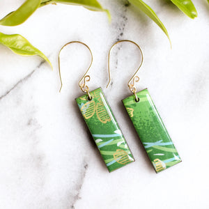 Bright Green & Gold Earrings