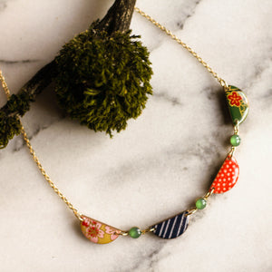 Japanese Swag Necklace- Bright Green