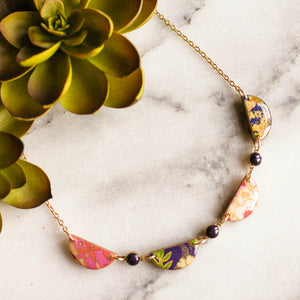 Japanese Swag Necklace- Plum