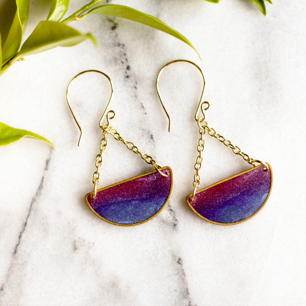 Mood Swings Earrings - Twilight