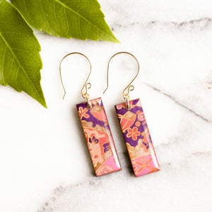 Pink, Purple & Gold Earrings