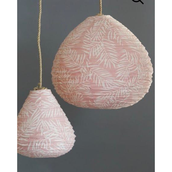 Tear Drop Pink palm Lantern
