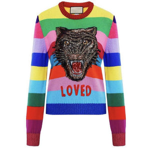 Tiger Sequin Sweater