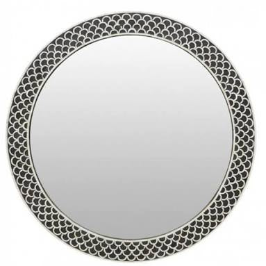 Fish Scale Bone Inlay Mirror