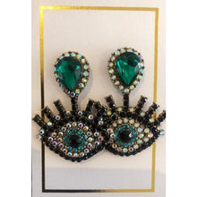 Load image into Gallery viewer, Evil Eye Earrings
