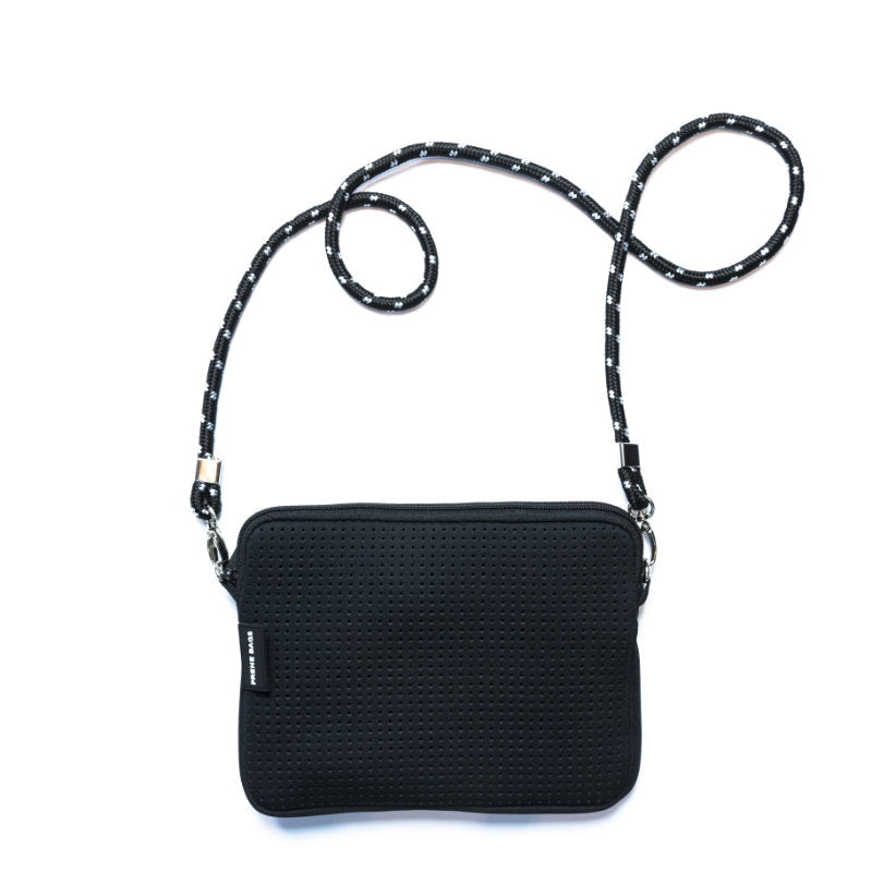 PRENE THE PIXIE BAG NEOPRENE CROSSBODY BAG BLACK