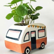 Load image into Gallery viewer, Retro Van Planter Terracotta 18x13cm