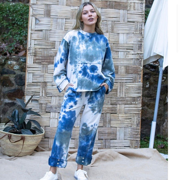 "Barry Made ""Lloyd"" Tie Dyed Track Pants"