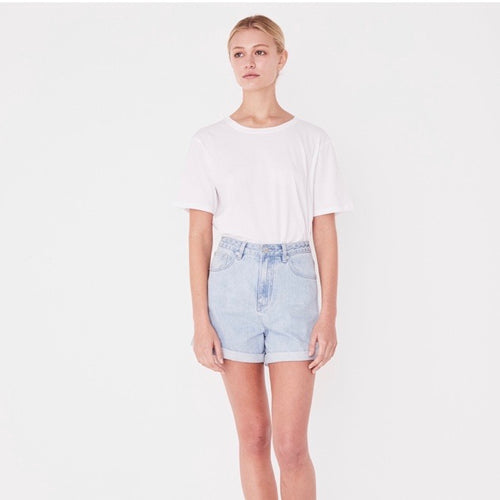 Assembly Label Rolled Hem Denim Shorts