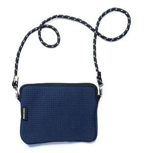 PRENE THE PIXIE BAG NEOPRENE CROSSBODY BAG NAVY