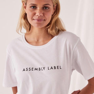 Assembly Logo Crew Tee White