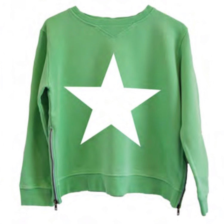 White Star Apple Green Sweat