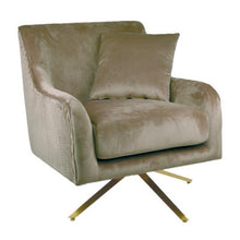 Load image into Gallery viewer, Mavis Armchair Taupe Velvet