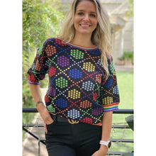 Load image into Gallery viewer, Frankies Multi Star Short Sleeve Knit