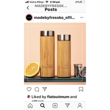 Load image into Gallery viewer, Insulated Bamboo Flask